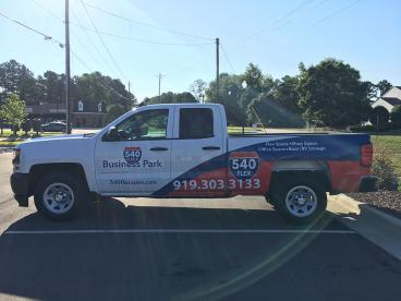 Partial Vehicle Wrap for 540 Flex & Business Park in Apex, NC