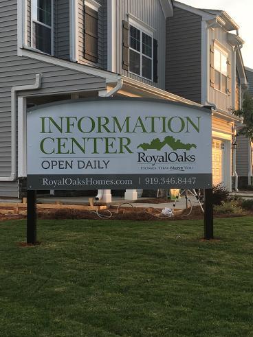 Exterior Signage - Royal Oaks - Garner, NC
