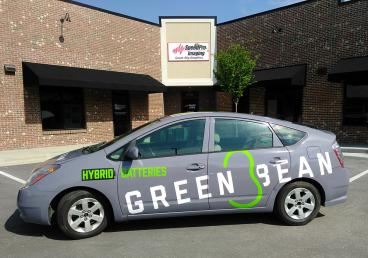 Full Vehicle Wrap for Green Bean Battery in Apex, NC