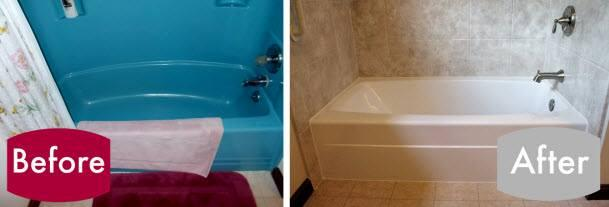 Is your tub stuck in a time warp? Maybe its turquoise, avocado green or purple...we can help you with that! Re-Bath will remove your old tub (no matter what color or shape) and replace it with a brand new tub perfect for you. We have deep soakers, jetted and more!