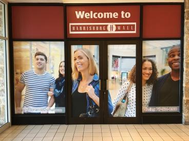 Mall Entrance window graphics