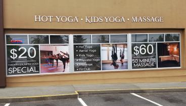 Window Graphics for Be One Yoga in Kirkland