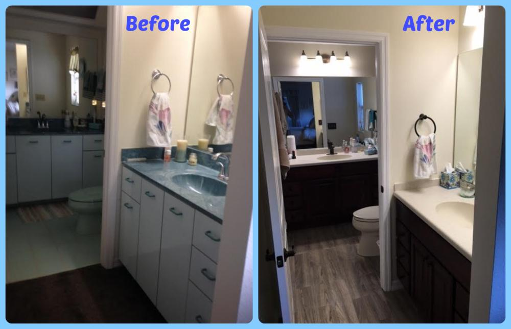New 100% All Wood Vanities by Bertch with New Mirrors and Lighting