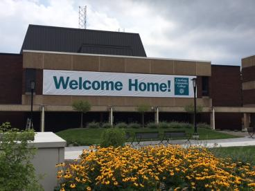 Giant Welcome Home Banner for Cuyahoga Community College