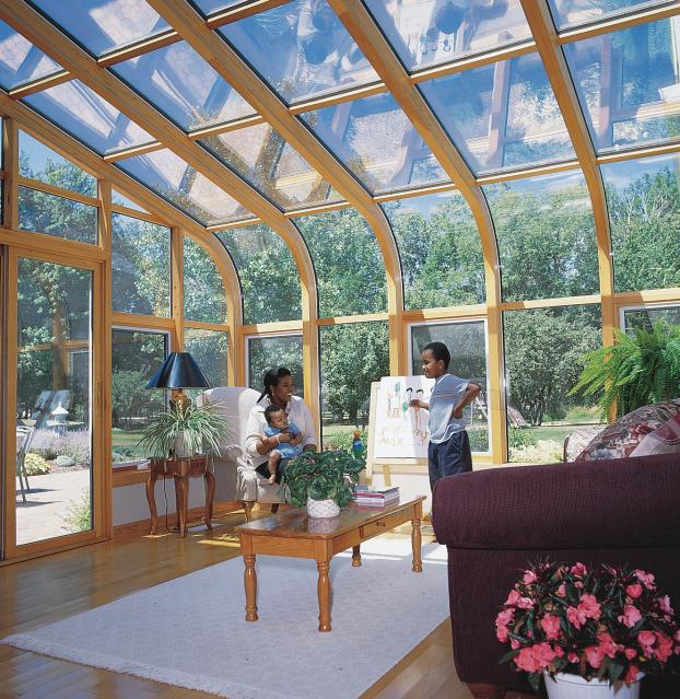 Curved Roof Sunroom