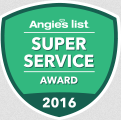 Angie's List Super Service Award Winner in 2016
