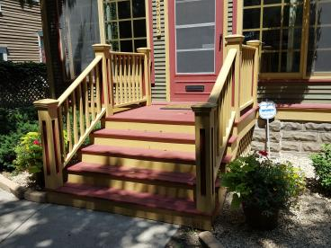 Replaced front porch  in Highland Park