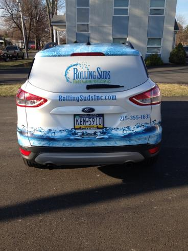 Rolling Suds Vehicle Wrap