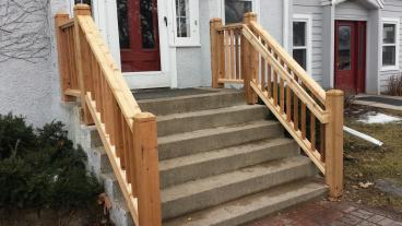 Replace railings and added handrails in South Minneapolis