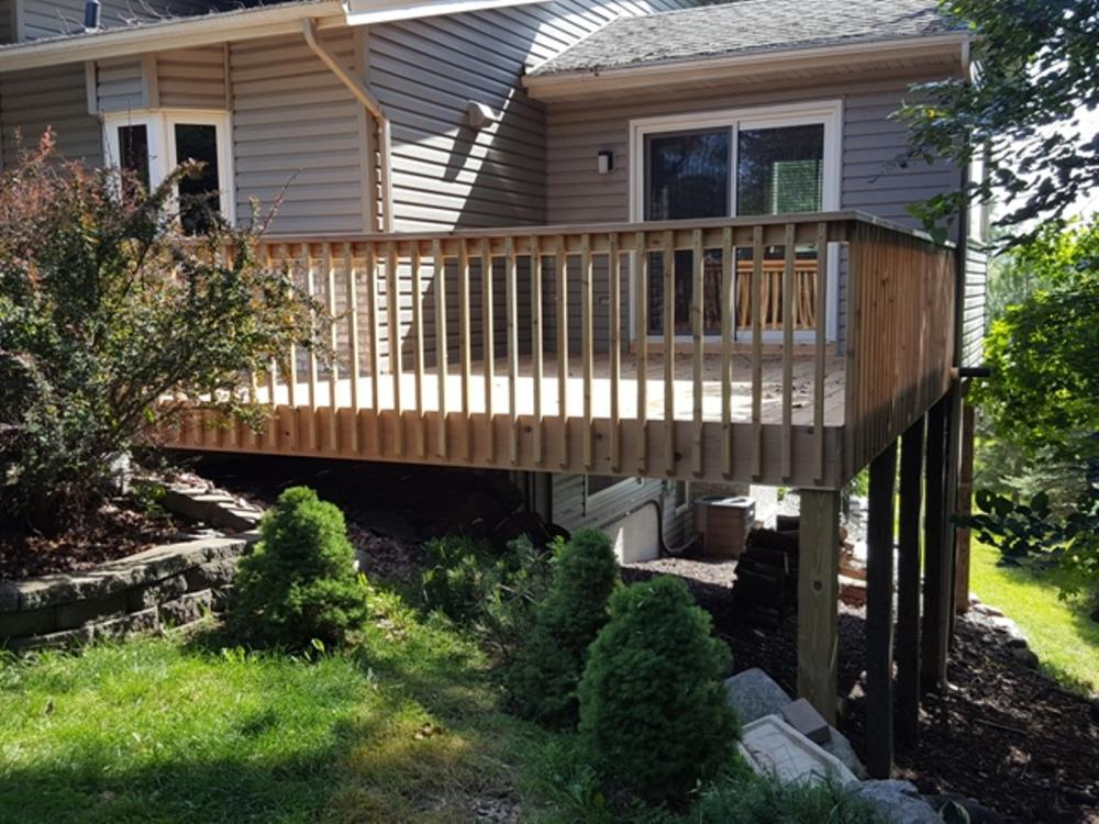 Rebuilt deck - added 50% more space and new stairs in Plymouth