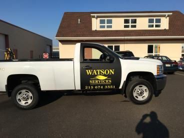 Watson Services Vehicle Wrap