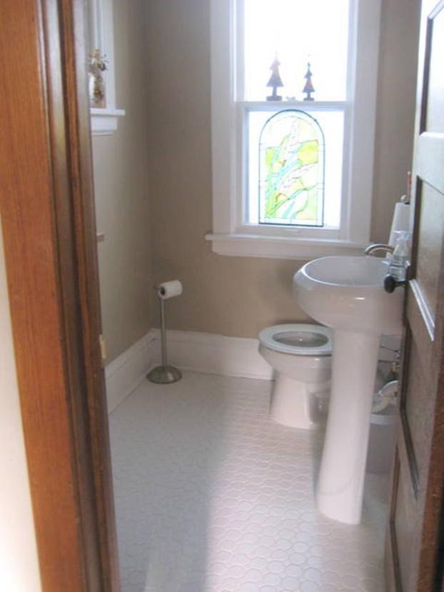 Created new 1st floor powder room in Minneapolis