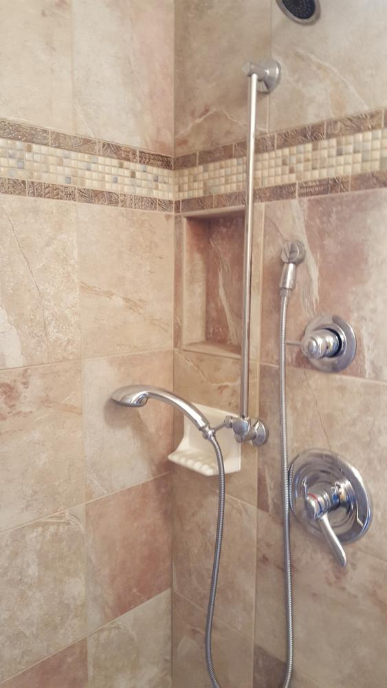 Walk in shower remodel in Eden Prairie
