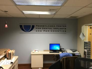 PA Center for Dental Wall Sign