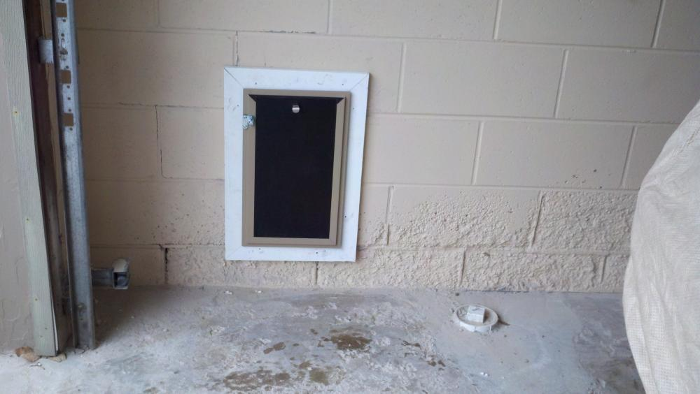 Hale pet door through block wall in Golden Valley