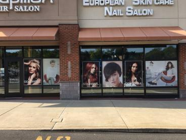 Le Papillon Hair Salon Window Graphics