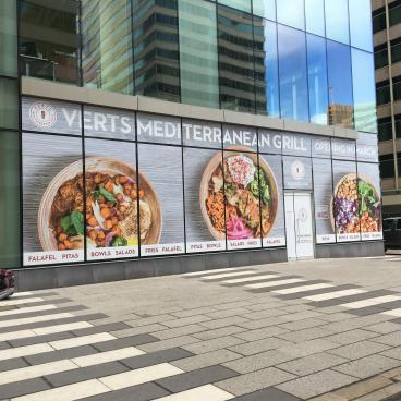 Verts Mediterranean Grill Window Graphics