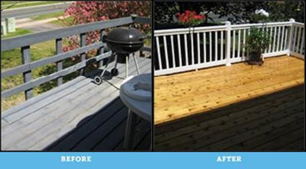 replaced worn out deck and railing with cedar and vinyl