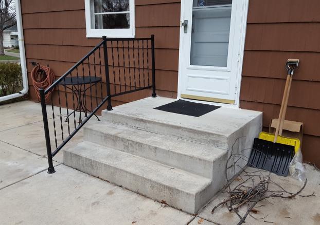New safety handrail in Richfield