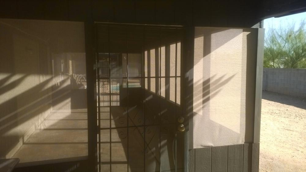 Enclosed, screened patio