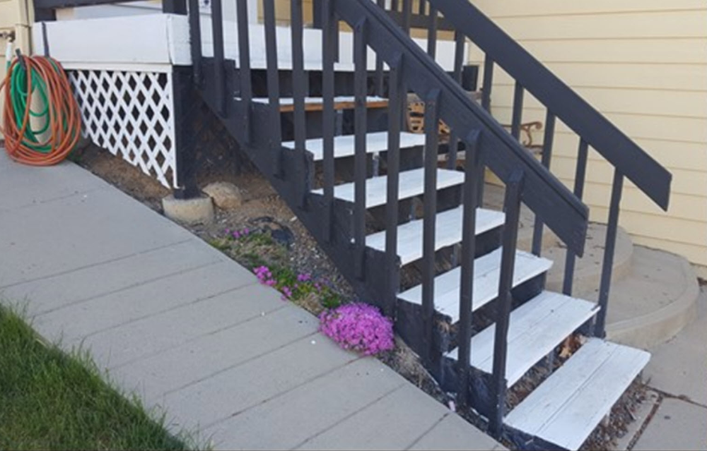 Front Porch with Stairs Before- Broomfield CO