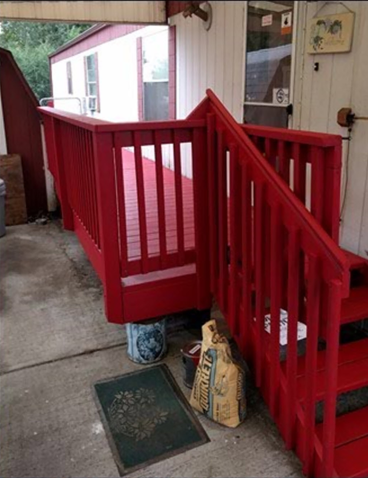 Refinished Deck, sanded, stained and new railings installed for a customer in Denver, CO - After