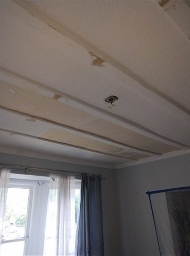 New Drywall Ceiling Installed - Denver, CO - Before