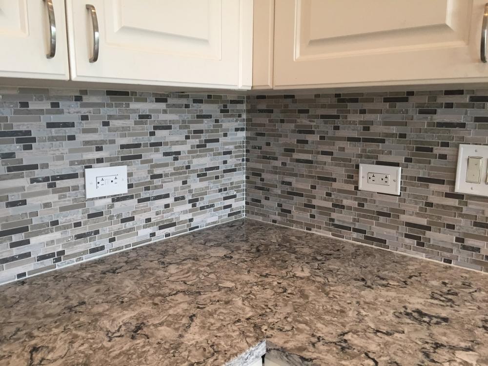 Mosaic backsplash installed in Cherry Creek Kitchen
