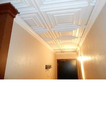 Ceiling tile and crown moulding Capital Hill
