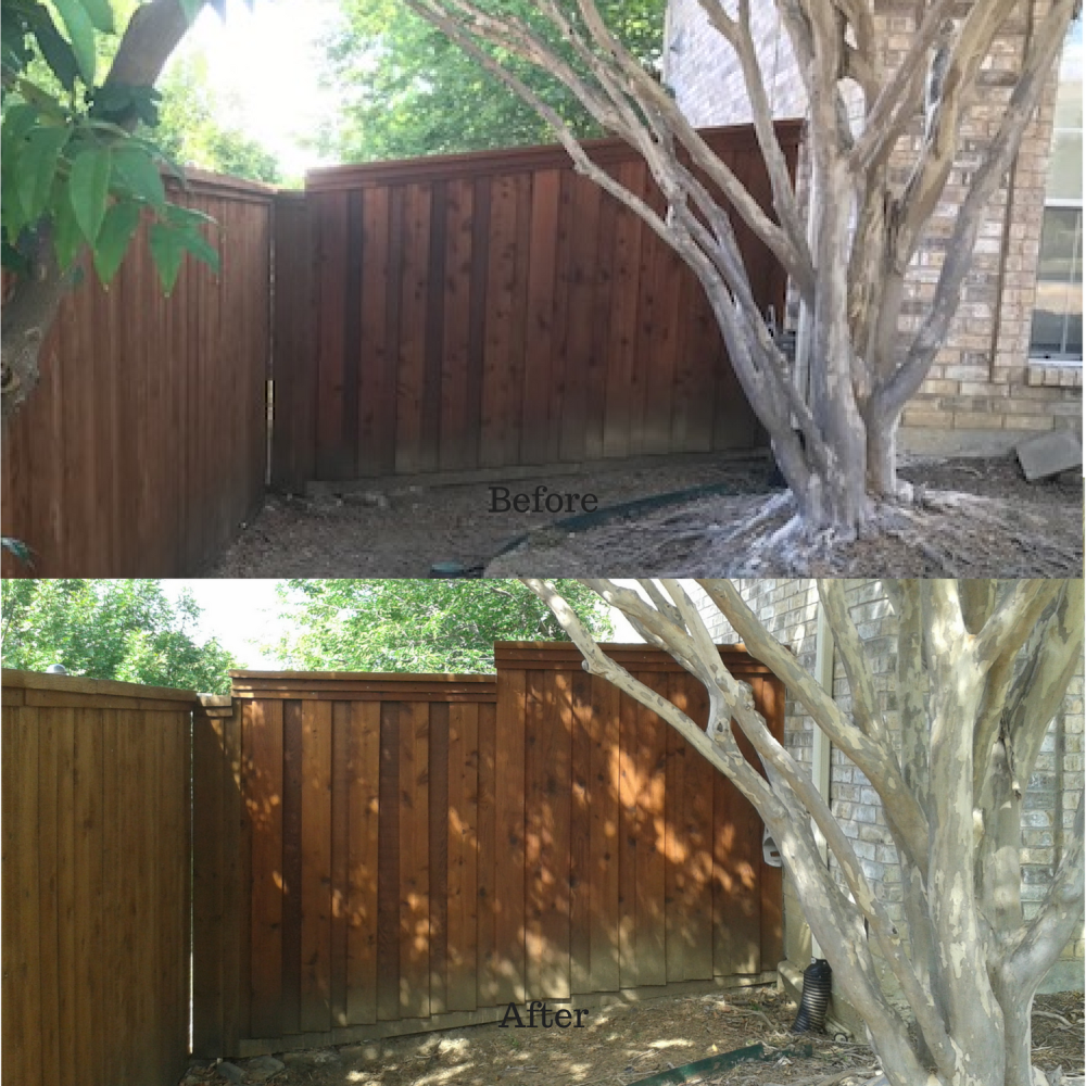 Before and After Fence Remodel