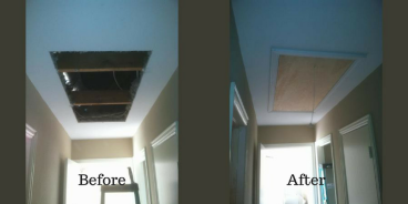 Attic Door Installation Before and After