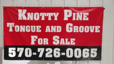 Knotty Pine Banner
