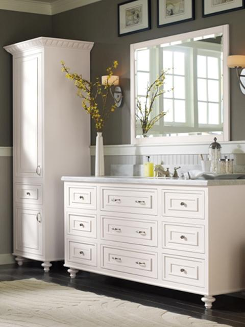 100% Natural Wood Vanity and Mirrors by Bertch