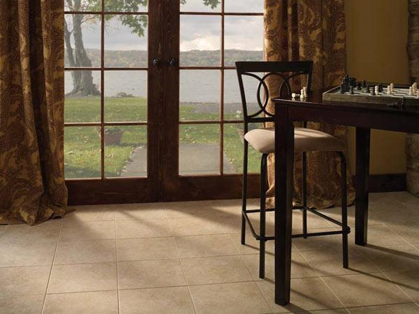 Ceramic floating tile floors by Avaire