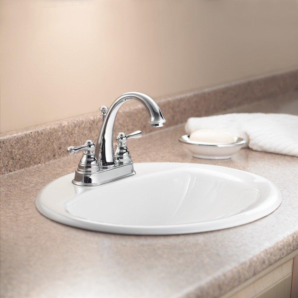 Moen sink faucet in chrome.