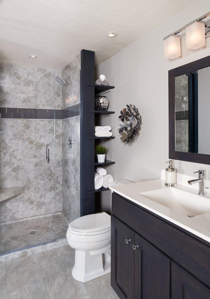 Custom Durabath Solid Surface Shower and Bench