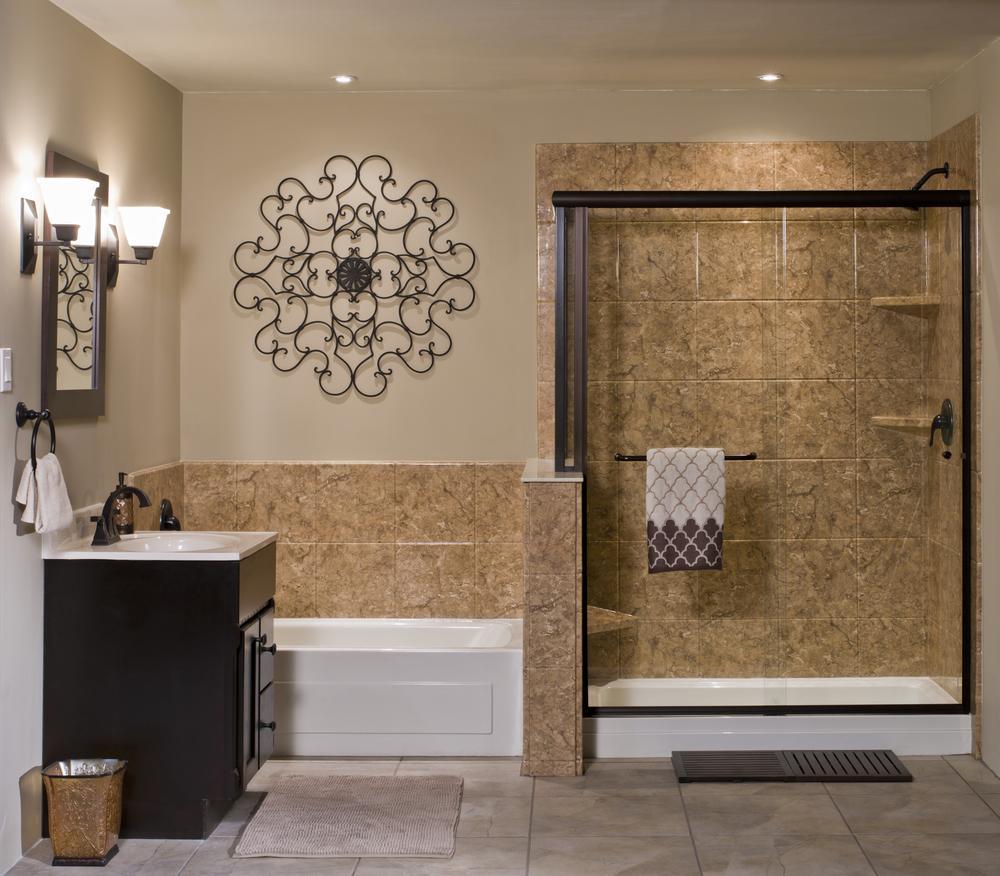 Custom DuraBath Solid Surface Tub Surround and Shower