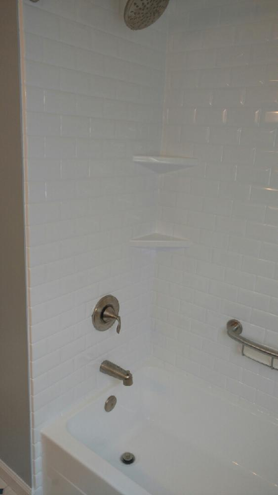after - DuraBath SSP tub and walls in classic subway tile in Mount Wolf, PA