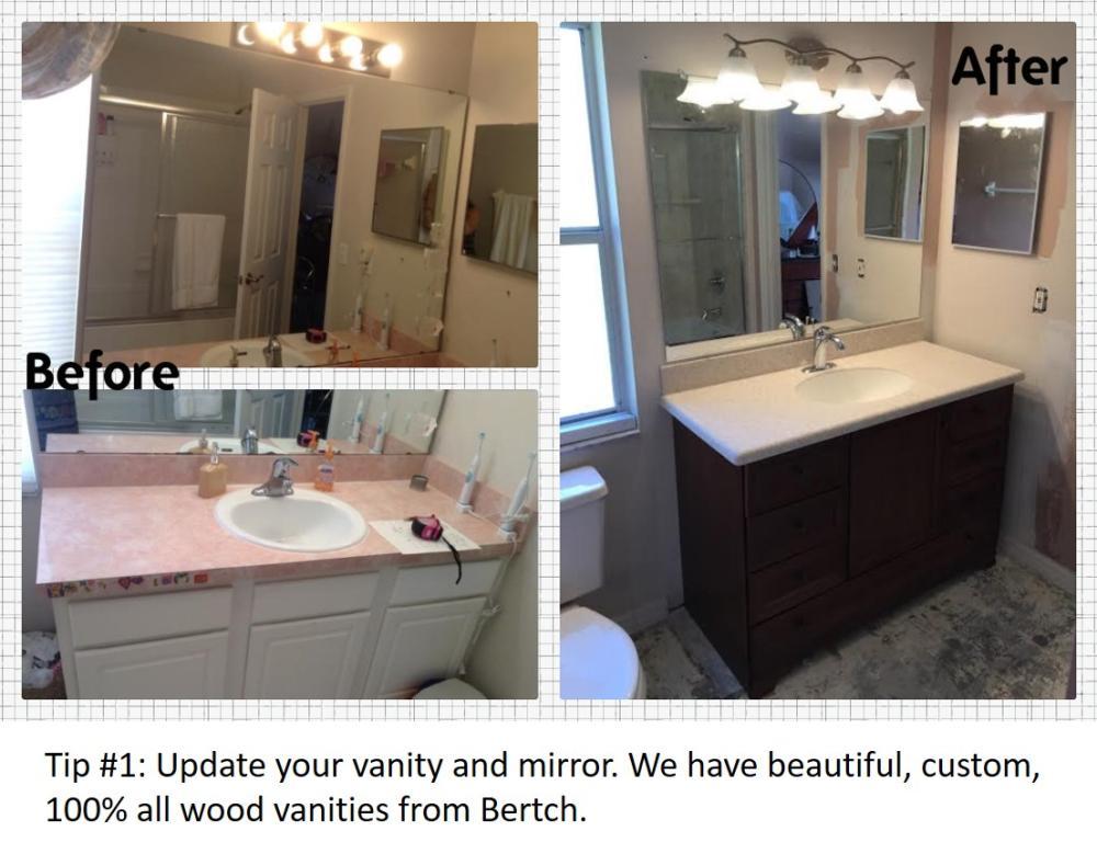 Bathroom Update Tip #1