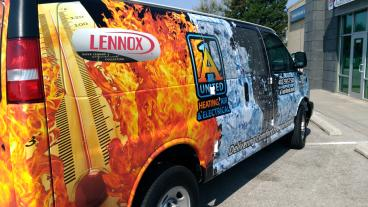 A-1 United Heating, Air and Electrical Fleet Wrap