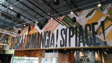 Completed a Wall Mural for Spin Pizza