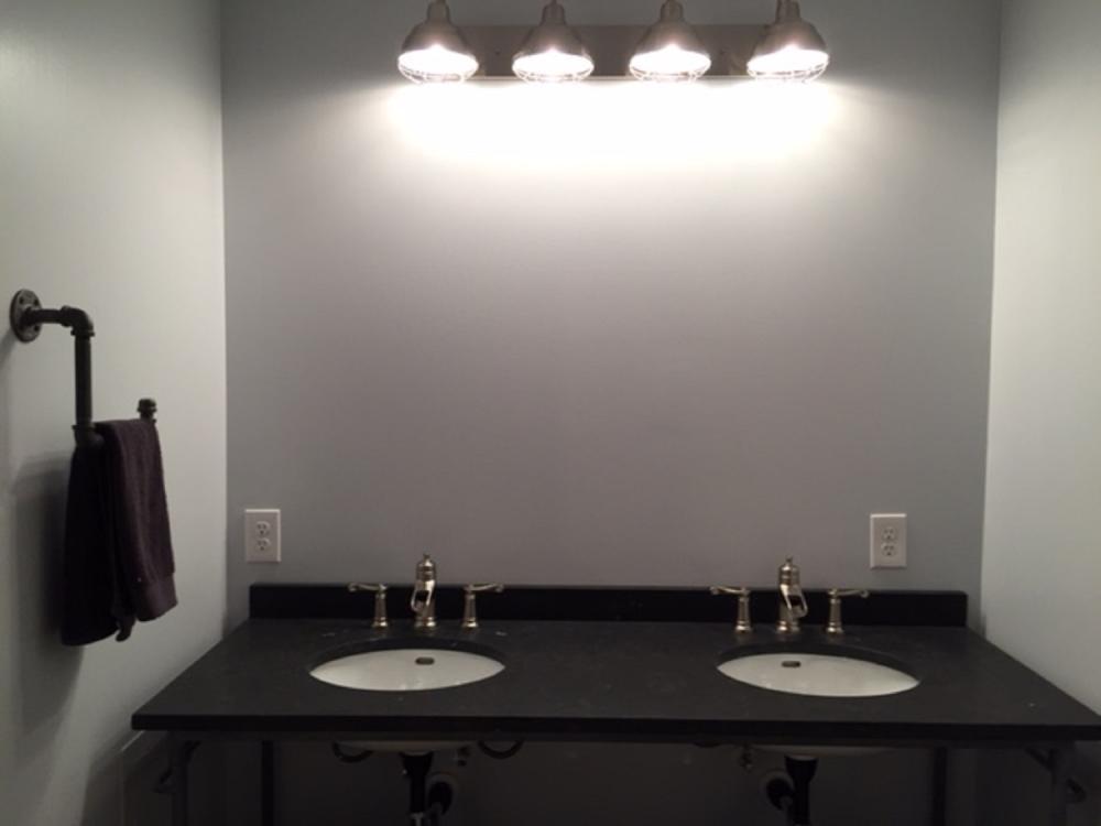 Updated Vanity and Lighting in Master Bath Renovation in Venetia, PA