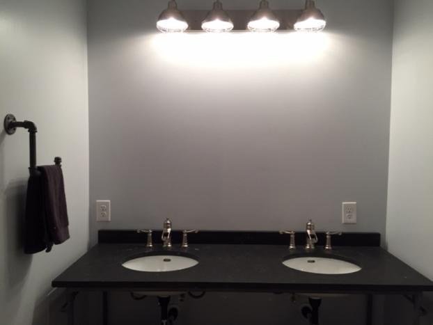 Updated Vanity and Lighting in Master Bath Renovation in Venetia, PA