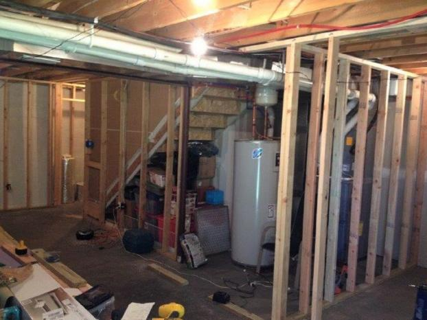 Before #2 Basement Remodel in Jefferson Hills, PA