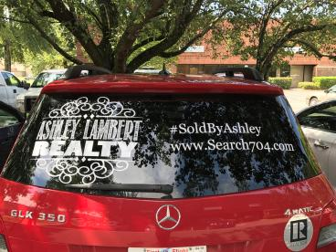 Decals for Ashley Lambert Realty, Charlotte, NC