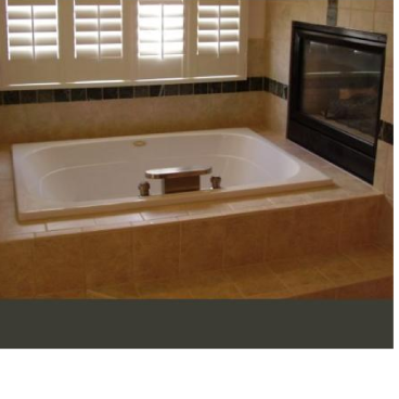Tub Surround tiled in bathroom, Castle Rock, Colorado
