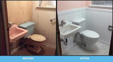 1/2 Bathroom Total Remodel in Harding