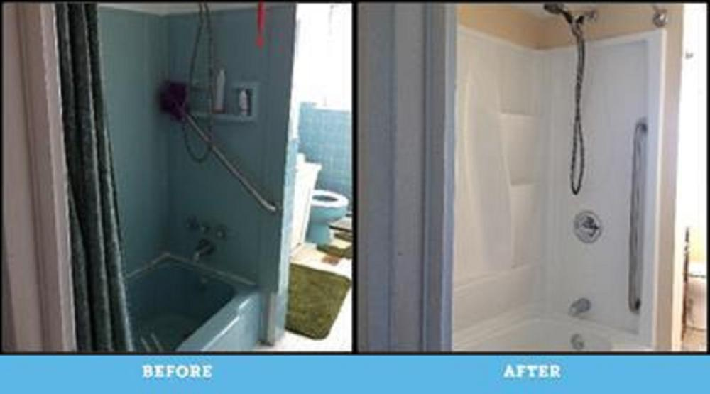 Before and After Photos of Bathroom Remodel in Swoyersville
