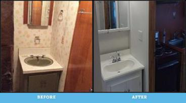 Before and After Photos of Bathroom Remodel in Plains