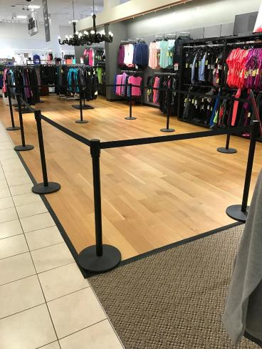 Hardwood Laminate Flooring Installation at Wyoming Valley Mall